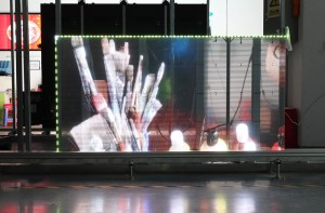 P3.91 Transparent Glass LED Screen Wall